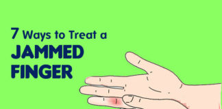 get rid of jammed finger