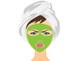 DIY homemade green tea face mask