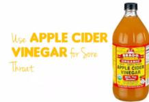 apple cider vinegar for sore throat