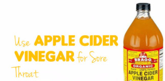 how to use apple cider vinegar for sore throat