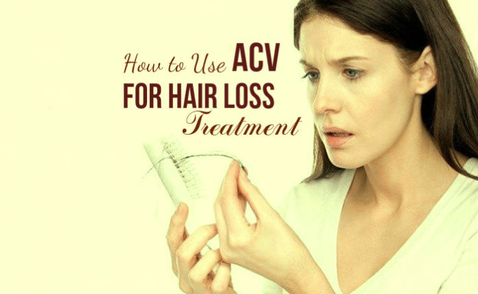 Learn how to use apple cider vinegar for hair loss treatment