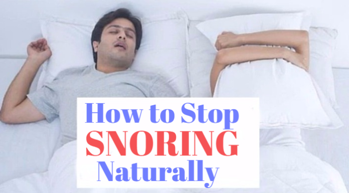 how to stop snoring naturally at home