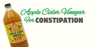 how to get rid of constipation using apple cider vinegar
