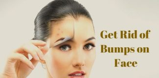 how to get rid of bumps on face
