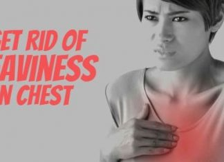 how to get rid of heaviness in chest